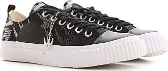 Alexander McQueen Sneakers for Women On Sale, Black, Fabric, 2019, 4.5 6.5 7.5 8.5