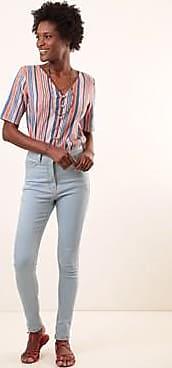 Ervadoce Calça Slim Clássica Cintura Alta Efeito Redutor