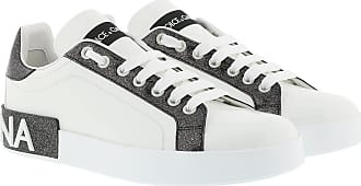 Dolce & Gabbana Sneakers - Portofino Sneakers White/Black - white - Sneakers for ladies