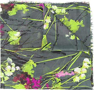 Blumarine Echarpe com estampa floral - Cinza