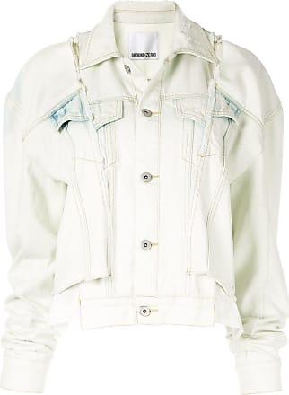 Ground-Zero Jaqueta jeans com recortes - Branco