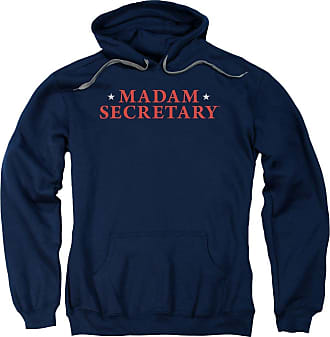 Popfunk Madam Secretary Logo Unisex Adult Pull-Over Hoodie for Men and Women Blue