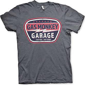 Gas Monkey Garage Officially Licensed Vintage Custom T-Shirt (Dark-Heather), XXL