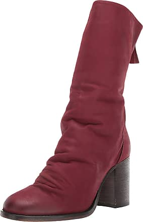 Free People Elle Block Heel Boot Wine 36 (US Womens 6)
