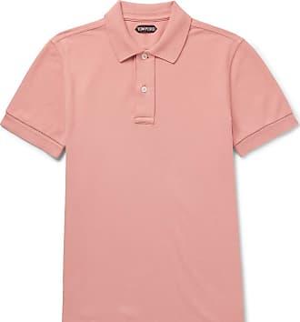 Tom Ford Garment-dyed Cotton-piqué Polo Shirt - Pink
