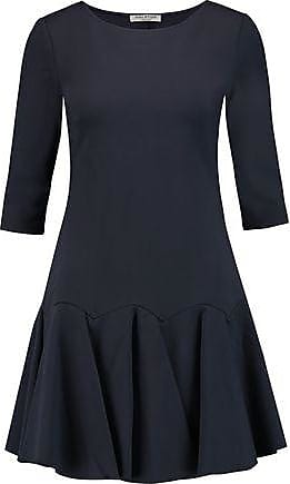 4bb44c60be22 Halston Heritage Halston Heritage Woman Pleated Ponte Mini Dress Navy Size L
