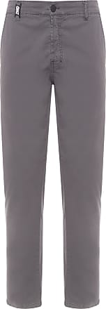Ellus CALÇA MASCULINA COLOR CANVAS SUPER SLIM - CINZA