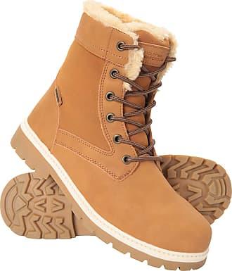 Mountain Warehouse Casual Womens Waterproof Hiking Boots - Faux Fur Brown Womens Shoe Size 7 UK