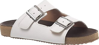 Doctor Shoes Antistaffa Sandália Feminina Birks em Couro Floater Branco 214 Doctor Shoes-Branco-36