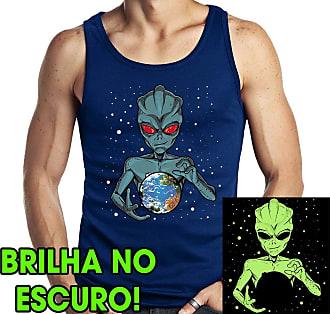 Dragon Store Camiseta Regata Dominação Alien Anunnaki ET Brilha no Escuro