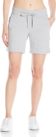 Hanes Womens Jersey Short, Light Steel, Large