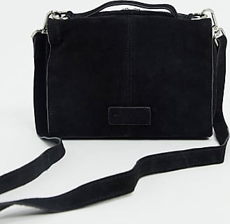 Urban Code suede boxy cross body bag in black