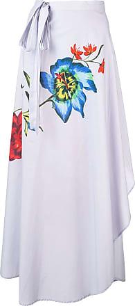 Onia floral amanda wrap skirt - Purple