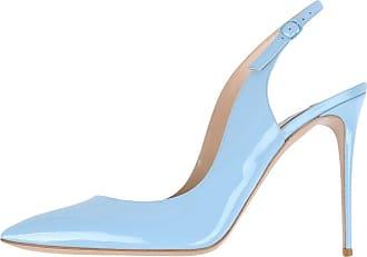 EDEFS Womens Pointed Toe Slingback Court Shoes Ankle Strap Pumps Babyblue Size EU38