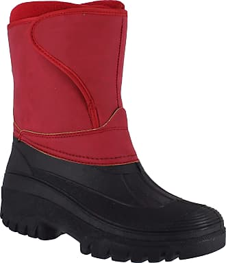 Groundwork Womens Mucker Stable Yard Winter Snow Zip Up Boots Wellies Red Nub UK4