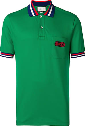 c04b455a3d9 Gucci logo patch polo shirt - Green