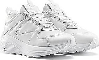 HUGO BOSS Sneakers aus Leder, Stoff und Mesh mit Schnürung und dicker Sohle