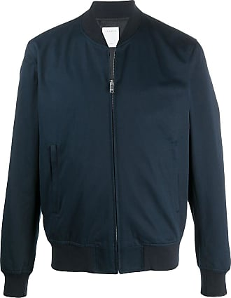Sandro ribbed-neck zip-through bomber jacket - Blue