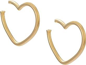 Jack Vartanian Par de brincos Argola Pop prata com banho em ouro 18kt - Dourado