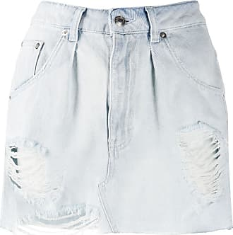 Iro denim distressed mini skirt - Blue