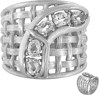 Juwelo Weißer Quarz Ring Silber Quarz Schmuck Quarz Weiß