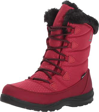 kamik Womens Polarjoy Snow Boots, Black (Black-Noir Red), 5 UK