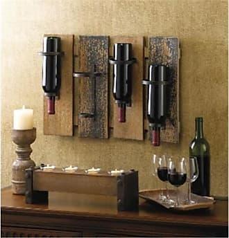 Zingz & Thingz 57071146 Wood Planks Wine Rack