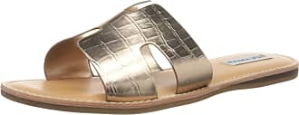 Steve Madden Womens Harlow Slide Sandal, Rose Gold Multi, 3.5 UK