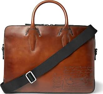 Berluti Profile Mini Scritto Leather Briefcase - Tan 7aaaac993d5c7