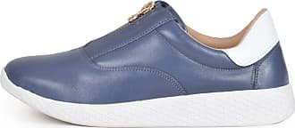Balaia Tênis Sneaker Balaia MOD260 em Couro Azul Jeans