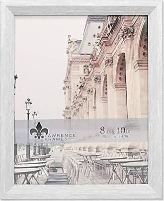 Lawrence Frames 8x10 Bradley Whitewashed Gray Picture Frame, White
