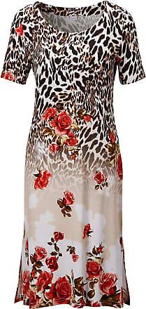 Madeleine Strandkleid im Muster-Mix in hellbraun MADELEINE Gr 34, multicolor für Damen. Elasthan, Viskose