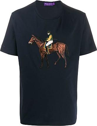 Ralph Lauren Purple Label Camiseta com jogador de polo bordado - Roxo