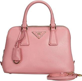 2f08b54729ee Prada Pink Leather Saffiano Lux Promenade Satchel Italy