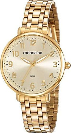 Mondaine Relógio Mondaine Feminino Dourado 53779lpmvde1 Analógico 5 Atm Cristal Mineral Tamanho Médio