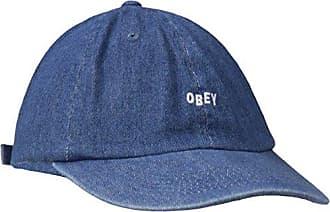 Obey Mens Jumble Bar 6 Panel Hat, Denim One Size