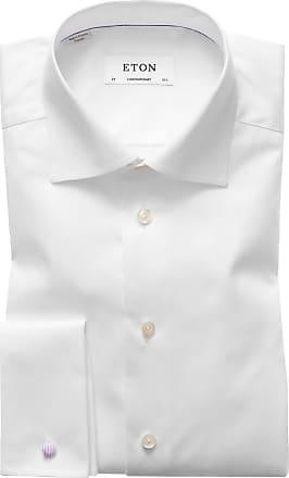 Eton Designerhemd mit Umschlagmanschette, Slim Fit von Eton in Weiss für Herren