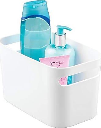 InterDesign Una Bathroom Vanity Organizer Bin for Health and Beauty Products/Supplies, Lotion, Perfume - 10 x 6 x 6, White