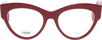Fendi Armação de Óculos Gatinho 273 Vermelha - Mulher - Vermelho - 49 IT