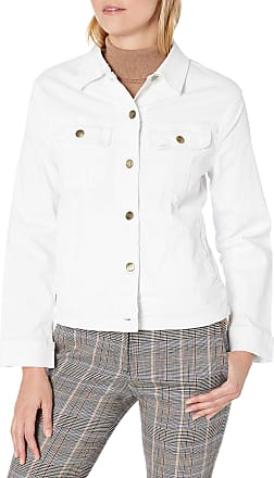 Lee Womens Legendary Regular Fit Jacket Denim, White, S