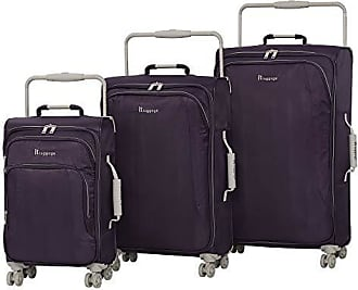 IT Luggage IT Luggage Worlds Lightest 8 Wheel 3 Piece Set, Purple Pennant With Cobblestone Trim