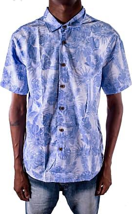 Outlet Dri Camisa OutletDri Slim Manga Curta Florido Floral Azul Claro