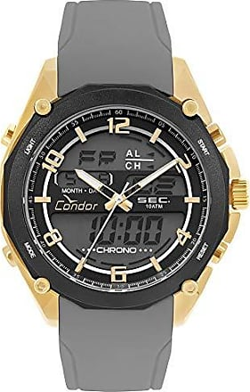 Condor Relógio CONDOR dourado silicone cinza COY121E6AD/3P