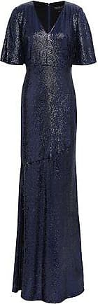 Rachel Zoe Rachel Zoe Woman Heather Sequined Stretch-jersey Gown Navy Size 2