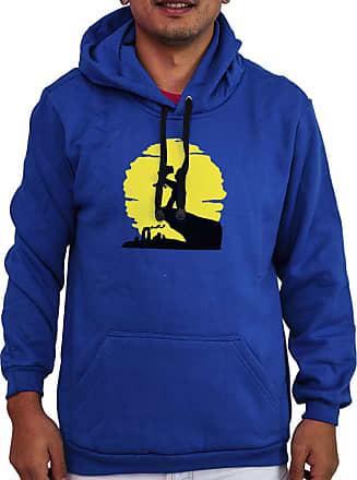 Atelier do Silk Agasalho Flanelado Capuz Unissex Série Os Simpsons Rei Leão Cor:Azul;Tamanho:GG