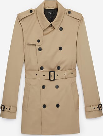 The Kooples Double-breasted short beige trench coat - MEN