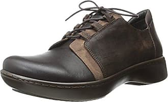 Naot Naot Womens Riviera Flat, French Roast Leather/Carob Brown Leather/Mine Brown Leather/Buffalo Leather, 35 EU/4.5-5 M US