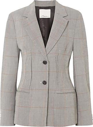 3.1 Phillip Lim Checked Wool-blend Blazer - Gray