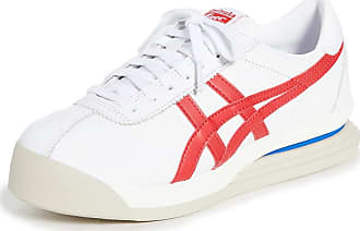 Onitsuka Tiger Womens Tiger Corsair Ex Sneakers, White/Classic Red, 5.5 Medium US