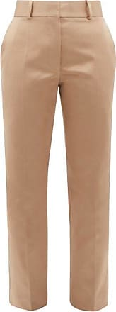 Haider Ackermann Taroni Tailored Silk-satin Trousers - Womens - Cream